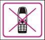 Symbol - zákaz používání mobilního telefonu