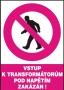 Vstup k transformátorům pod napětím zakázán!