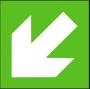 Symbol - směr úniku šikmý (lze otočit do čtyř stran)