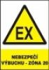 Nebezpečí výbuchu -zóna 20