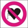 Symbol - zákaz vstupu s kardiostimulátorem
