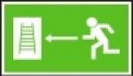 Únikový žebřík vlevo
