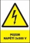 Pozor - napětí 3x500 V