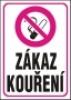Zákaz kouření - dle zákona č. 379/2005