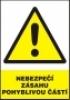 Nebezpečí zásahu pohyblivou částí