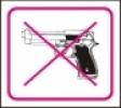 Symbol - zákaz vstupu se zbraní