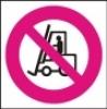 Symbol - zákaz provozu vozíků
