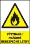 Výstraha! Požárně nebezpečné látky