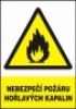 Nebezpečí požáru hořlavých kapalin