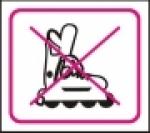 Symbol - zákaz jízdy na kolečkových bruslích