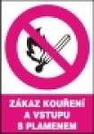 Zákaz kouření a vstupu s plamenem