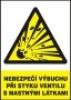 Nebezpečí výbuchu při styku ventilu s mastnými látkami