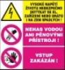 Vysoké napětí životu nebezpečno dotýkat se el. zařízení nebo drá