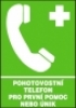 Pohotovostní telefon pro první pomoc nebo únik