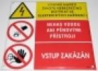 Vysoké napětí - Životu nebezpečno dotýkat se el. zařízení - Neha