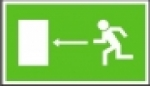 Symbol -únikový východ vlevo