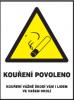 Kouření povoleno - samolepka dle zákona 65/2017 Sb.