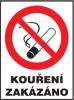 Kouření zakázáno - samolepka dle zákona 65/2017 Sb.