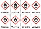 Oxidující – varování (GHS03)