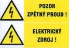 Pozor zpětný proud! - Elektrický zdroj!