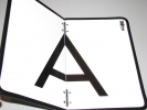 Reflexní tabule A - sklopná
